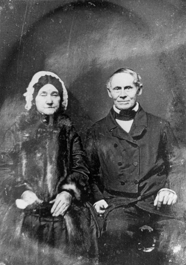 Portait of Robert and Eliza Mills